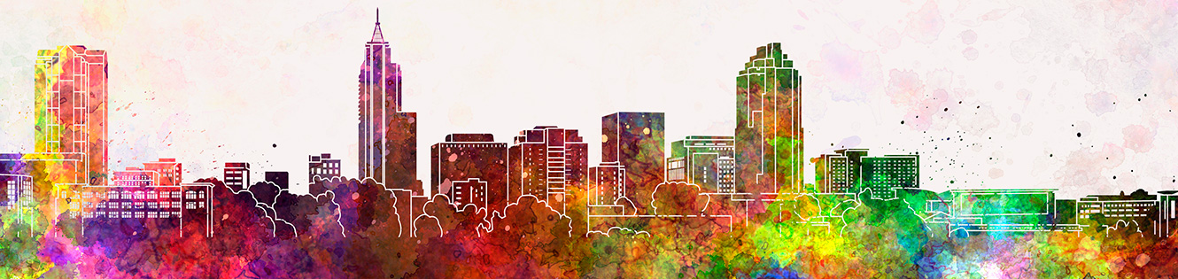 Illustration of Raleigh skyline