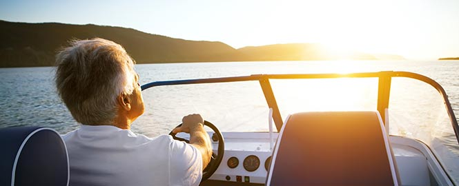 Man Driving Speedboat Header Image