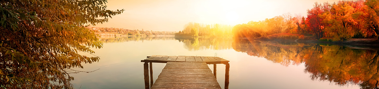 Lake Scene with Dock Header Graphic