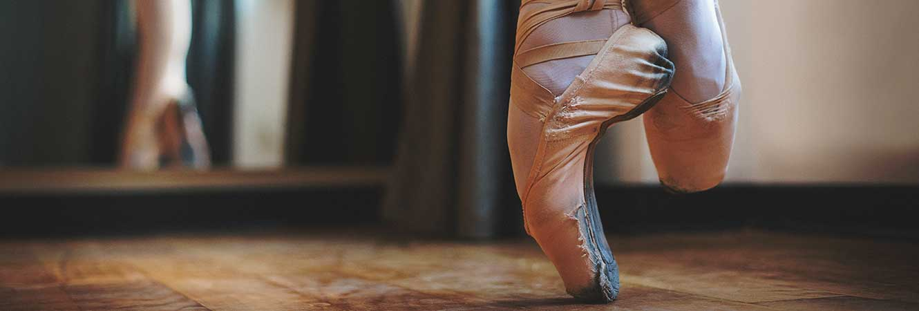 Ballet Pointe Shoes Header Graphic Image